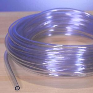 3mm Interior 5mm Depósito Combustible Respirador Manguera Tubo (Claro PVC)
