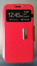 Funda modelo libro tapa imán roja para LG G2 lote de 10 unidades