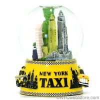 NYC Taxi Skyline Snow Globe - New York City Christmas Landmark Souvenir Gift