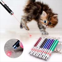 Mini Cat Dog Pet Toy Red Laser Light LED Pointer Pen Lazer Interactive Training