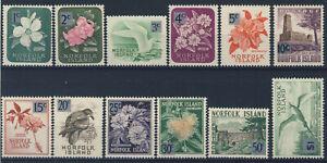 """1966 Norfolk Island MNH OG Complate set of 12 stamps """"Decimal Set"""" Sc.71-82"""