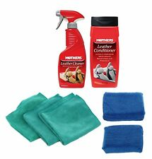 Mothers Leather Cleaner, Conditioner & Microfiber Bonus