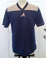 Atlanta Braves V Neck Pullover Jersey - Mens XLarge