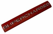 """Red Chrome SUPERCHARGED Badge for Range Rover Sport Autobiography """"Red edition"""""""