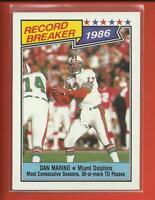 Dan Marino 🏈 1987 Topps Record Breaker Card # 6 🐬 Miami Dolphins Football HOF