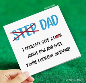 Step Dad DNA Card... Awesome / Funny Cards / Rude Cards / Father's Day Card