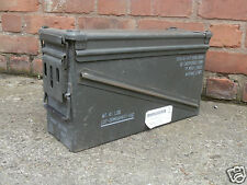 US Army Large 50Cal Ammo Box Tool Box Storage Ammunition Olive Military Surplus