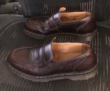 Doc Martens Made in England Size US 12 Dark Brown Slip on Vintage Shoes