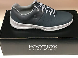NEW FootJoy Contour Casuals 54070 Blue/Grey Men's Golf Shoes 11.5M Were $135