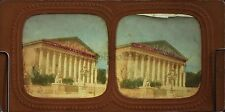 Body Legislative Assembly National Façade Paris Stereo Diorama Tissue Vintage