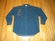 Men's Vintage FILA Denim Shirt New With Tags Size XL 100% Cotton