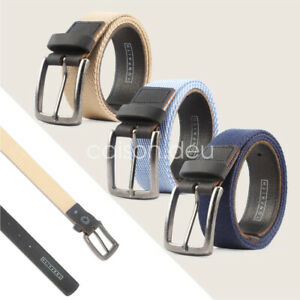 Men's Casual Outdoor Waistband Canvas Web Belt Fashion With Anti Nickel Buckle