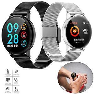 Bluetooth Smart Watch Stainless Steel Wristwatch for iPhone Samsung LG Motorola