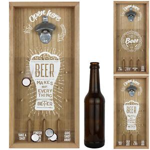 Wand Flaschenöffner Bier Öffner aus Metall für Wandmontage Küche Bar Wand