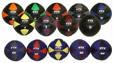 14 Medicine Ball Set 4 - 50 lbs VTX Wall Cross Fit Synthetic Leather Low Bounce