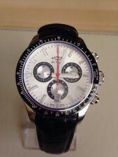 Reloj Cronógrafo Rotary de cuarzo suizo GS90151/06 - Negro/plata.