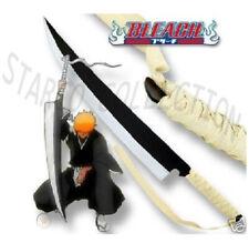 Ichigo's Zangetsu Bleach Anime Cutting Moon Sword With Display Table Stand