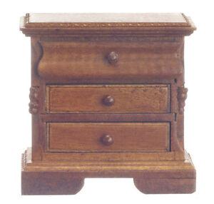 Dollhouse Miniature Nightstand - Walnut - T6382