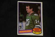 HOF DAVE KEON 1980-81 O-PEE-CHEE SIGNED AUTOGRAPHED CARD #272 HARTFORD WHALERS