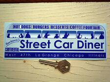 BARBARA'S STREET CAR DINER Chicago CAR STICKER Americana Bumper Hot Rod Vintage
