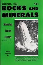 FIELD GUIDE ROCKS & MINERALS 1973 DECEMBER RUBIES DETERMINATIVE MINERALOGY