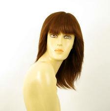 perruque femme 100% cheveux naturel châtain clair cuivré ref FABIENNE  30