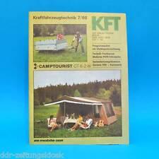 DDR KfT Kraftfahrzeugtechnik 7/1986 Camptourist CT 6-2 W und 7 Dacia 500 QEK