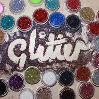 48 COLOURS Pot Ultra Fine Glitter Nail, Body Art Craft Floristry RockStar Halo