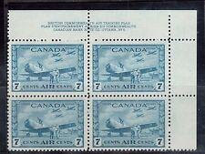 Canada #C8 VF/NH Plate #5 UR Block
