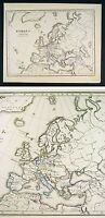 1867 Thomee Map Europe Spain France Italy Sweden Greece