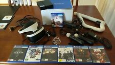 Sony PlayStation VR Headset PSVR + 2 Move & Aim Controller +  7 Games + Camera