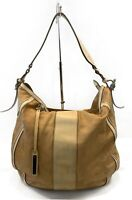 Burberry Calf Leather Large Bag Hobo Tote