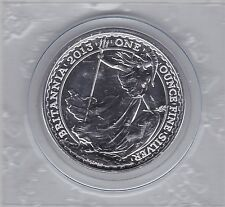 2013 SILVER ONE OUNCE £2 BRITANNIA SEALED IN NEAR MINT CONDITION