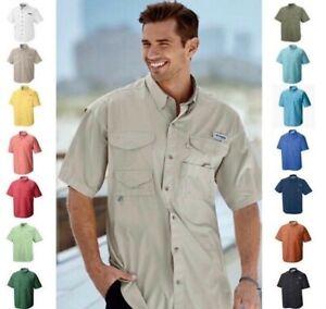 New Men's Columbia PFG Bonehead Vented Fishing Shirt Short Sleeve
