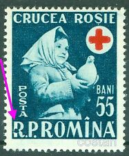 1957 Red Cross,Child,Dove,Rotes Kreuz,Croix Rouge,Cruz Roja,Romania,1665,ERROR**