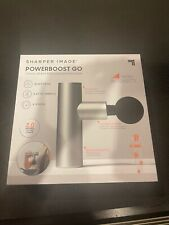 NEW! SEALED! Sharper Image POWERBOOST GO Travel Percussion Massager 1014486