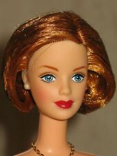Nude Barbie Short red bob hairstyle mackie face sculpt blue eyes