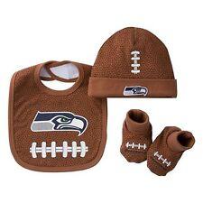 NFL Baby Seattle Seahawks 3-Piece Cap, Crib Shoes & Bib Set, 0-6 Months - NWT