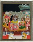 Lord Shiva Lives On Mount Kailash With His Family Handmade Religious Painting
