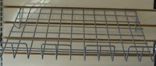 Store Display Fixtures 3 Sloping Slatwall Shelves Gray 23w X 14d