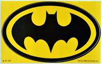 Batman Aufkleber Auto Car Door Decal Sticker Fledermaus Bat 12 cm original 1989