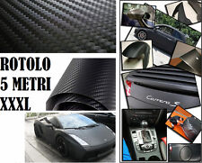 Adesivo carbonio Nero 500x152cm.Carbon look.Cover auto,moto,scooter. Pellicola !