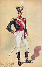 POSTCARD  MILITARY   Royal  Artillery  Officer    1820