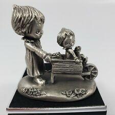 Vintage Hallmark Hudson Betsey Clark Pewter Sunshine Day Figure Wheelbarrow