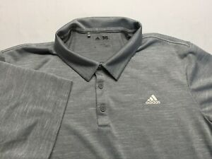 Adidas Golf Climacool Men's Short Sleeve Polo Shirt Gray Size Large