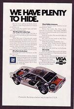 1972 Original Vintage Chevrolet Chevy Vega Car Interior Photo/Art Print Ad
