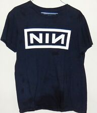 Nine Inch Nails Nin Logo Trent Reznor Men's Size Medium M Black Tee T-Shirt!