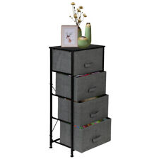 4 Drawers Fabric Cabinet Bedside Table Storage Unit Metal Frame Organiser Chest