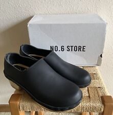 No. 6 Store Women's New Mid Heel Clog in Black Leather Size 41 (US 9.5/10)