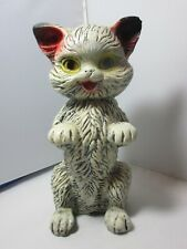 Vintage Chalkware Plasterware Cat Chalk Kitten Coin Bank Made in Mexico Carnival
